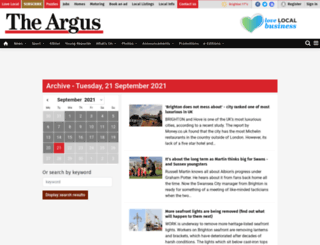 archive.theargus.co.uk screenshot