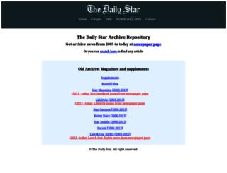 archive.thedailystar.net screenshot