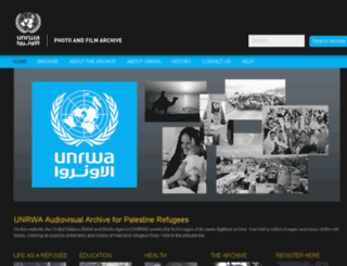 archive.unrwa.org screenshot