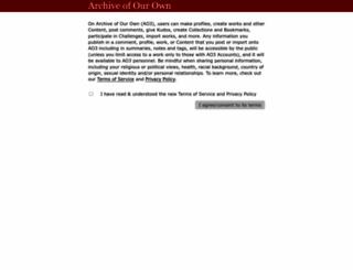 archiveofourown.org screenshot