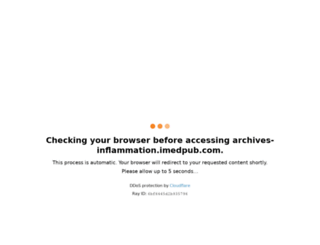 archives-inflammation.imedpub.com screenshot