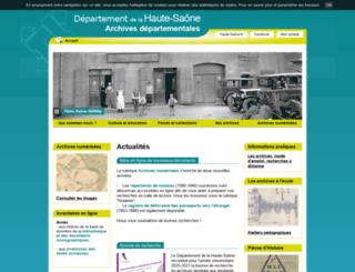 archives.cg70.fr screenshot