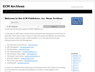 archives.ecmpublishers.com screenshot