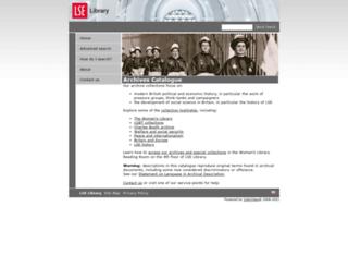 archives.lse.ac.uk screenshot