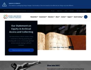 archives.ncdcr.gov screenshot