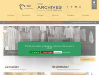 archives.orne.fr screenshot