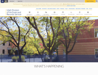 archives.state.ut.us screenshot
