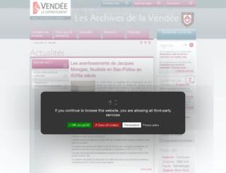 archives.vendee.fr screenshot