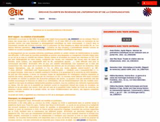 archivesic.ccsd.cnrs.fr screenshot