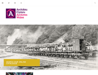 archiveswales.org.uk screenshot