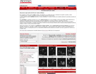 archivio.piccoloteatro.org screenshot