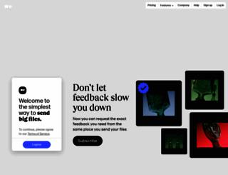 archivision.wetransfer.com screenshot