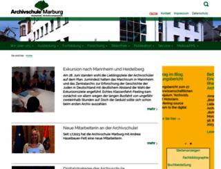 archivschule.de screenshot