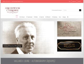 archiwum.wfis.uw.edu.pl screenshot
