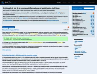 archlinux.fr screenshot