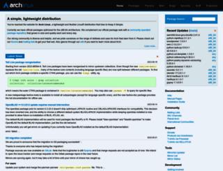 archlinux.org screenshot