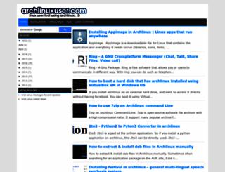 archlinuxuser.com screenshot
