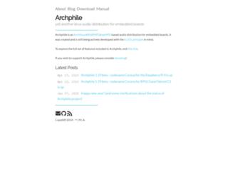 archphile.org screenshot