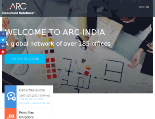arcindiadigital.com screenshot