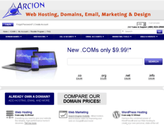 arcionwebdesign.com screenshot