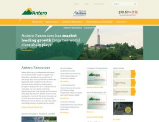 arcnet.anteroresources.com screenshot