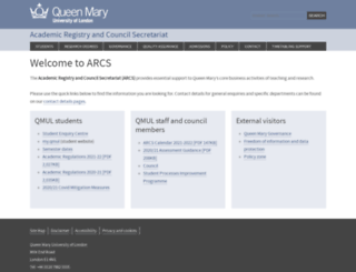 arcs.qmul.ac.uk screenshot