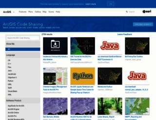 arcscripts.esri.com screenshot