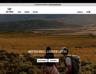 arcteryx.com screenshot