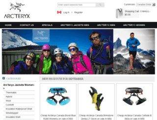 arcteryxoutletcanada.com screenshot