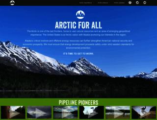 arctic.consumerenergyalliance.org screenshot