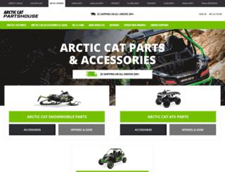 arcticcatpartshouse.com screenshot
