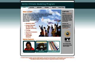 arcticclimatemodeling.org screenshot