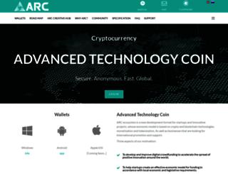 arcticcoin.org screenshot
