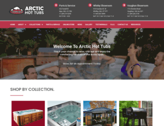 arctichottubs.com screenshot