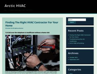 arctichvacandplumbing.com screenshot