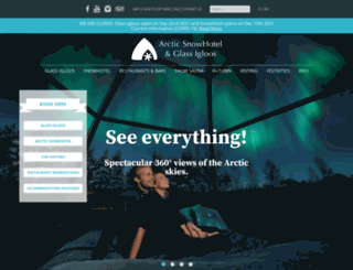 arcticsnowhotel.fi screenshot