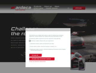 ardeca-lubricants.be screenshot