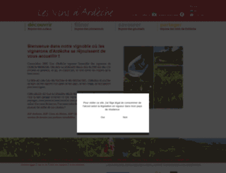 ardeche-wines.com screenshot