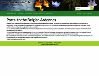 ardennes-info.be screenshot