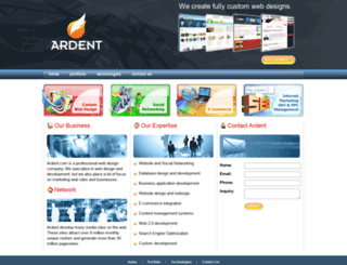 ardent.com screenshot