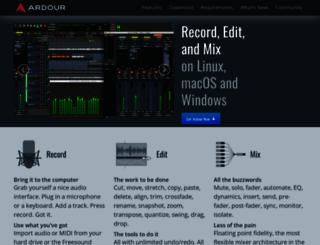 ardour.org screenshot
