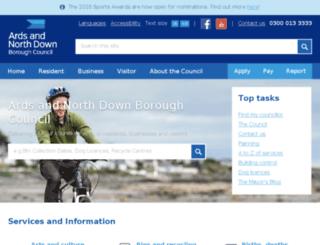 ards-council.gov.uk screenshot
