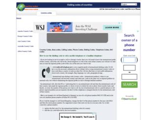 area-dialing-codes.com screenshot
