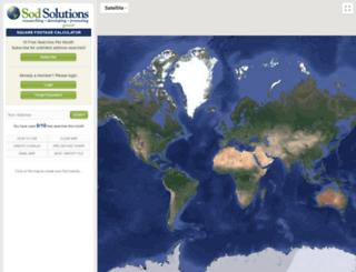 areacalculator.sodsolutions.com screenshot