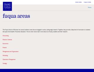 areas.fuqua.duke.edu screenshot