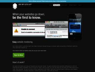 aremysitesup.com screenshot
