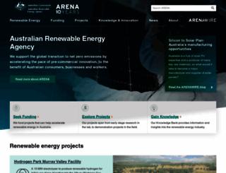 arena.gov.au screenshot