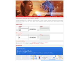 arenapointscalculator.com screenshot