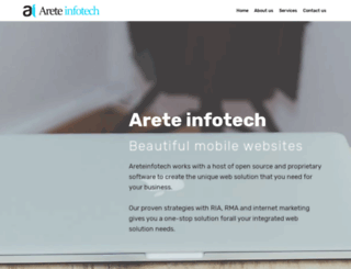 areteinfotech.com screenshot