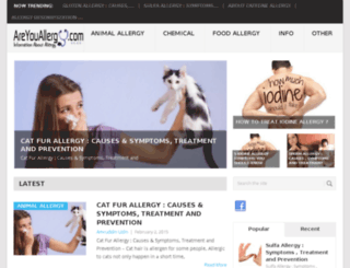 areyouallergy.com screenshot